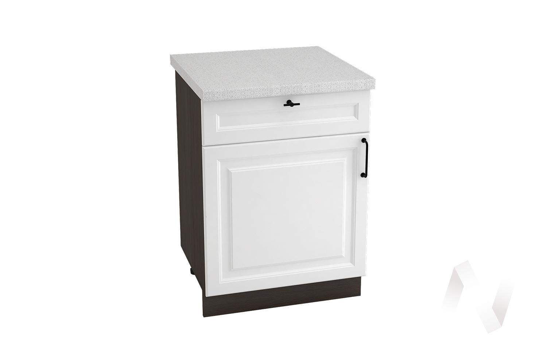"Кухня ""Ницца Royal"": Шкаф нижний с ящиками 600М, ШН1Я 600М (Blanco/корпус венге)"