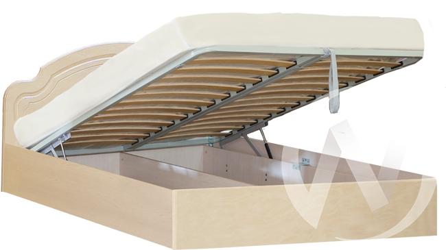 Валенсия Кровать №2 1,4  с подъемным механизмом (бодега бежевый-клён)