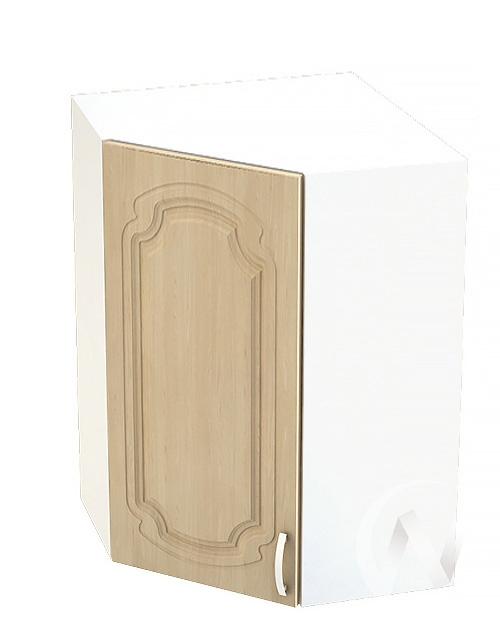 """Кухня """"Настя"""": Шкаф верхний угловой 599, ШВУ 599 (Береза/корпус белый)"""