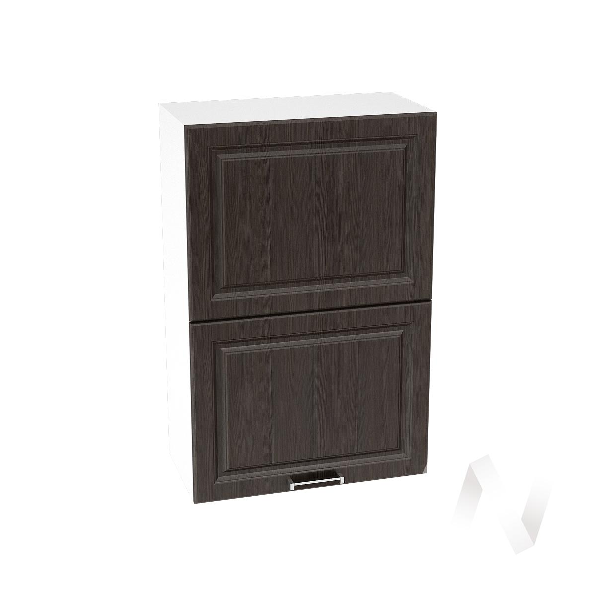 """Кухня """"Прага"""": Шкаф верхний горизонтальный 602, ШВГ 602 (венге/корпус белый)"""