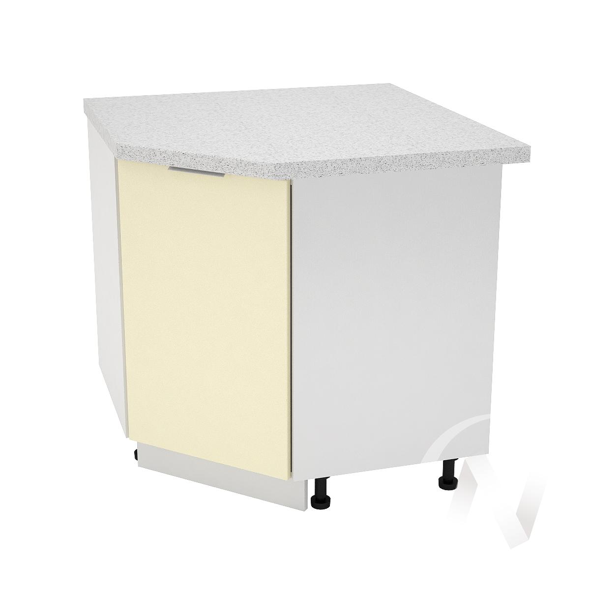 """Кухня """"Терра"""": Шкаф нижний угловой 890, ШНУ 890 (ваниль софт/корпус белый)"""
