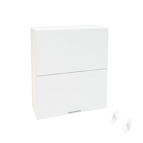 """Кухня """"Валерия-М"""": Шкаф верхний горизонтальный 802, ШВГ 802 (белый глянец/корпус белый)"""