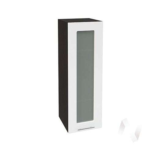"""Кухня """"Валерия-М"""": Шкаф верхний со стеклом 309, ШВС 309 (белый глянец/корпус венге)"""