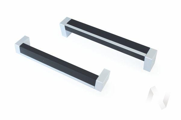 Ручка-скоба М0023 С19 128мм (Прага) (мет+дуб венге/мет)