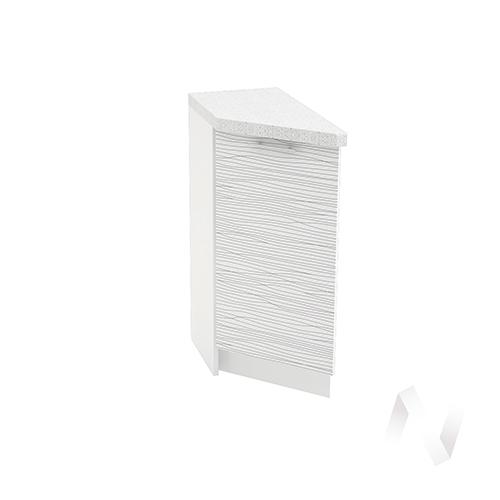 """Кухня """"Валерия-М"""": Шкаф нижний торцевой 300, ШНТ 300 (Страйп белый/корпус белый)"""