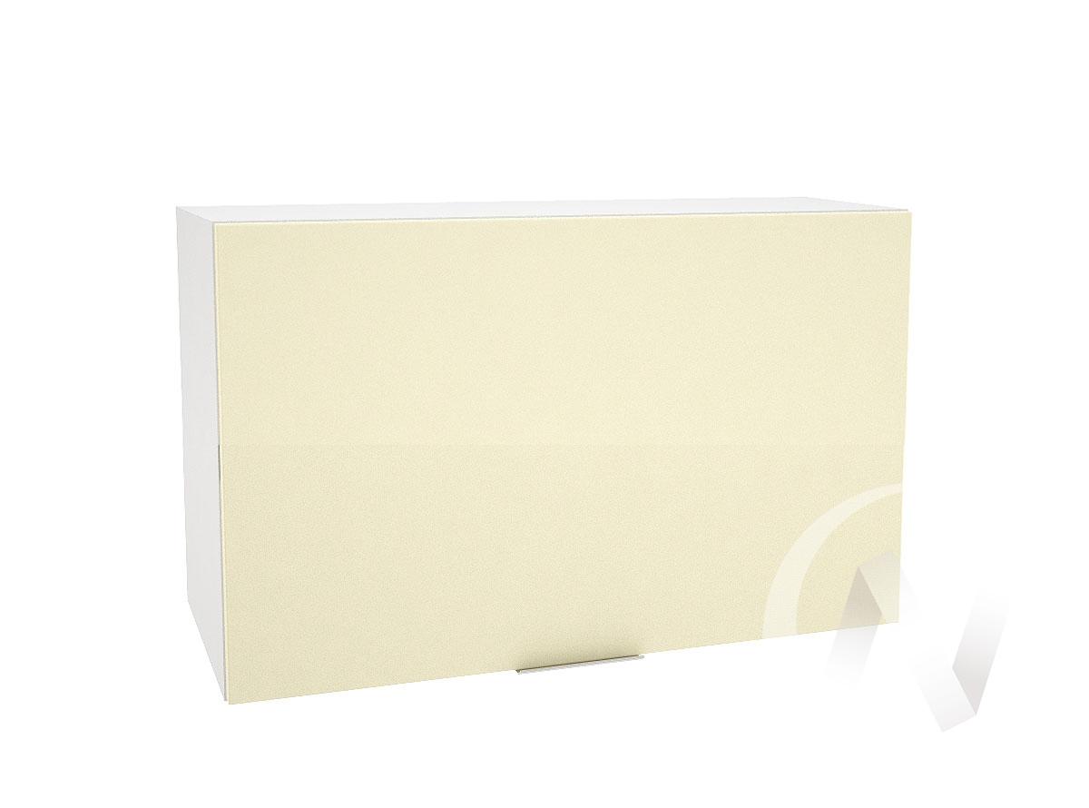 """Кухня """"Терра"""": Шкаф верхний горизонтальный 809, ШВГ 809 (ваниль софт/корпус белый)"""