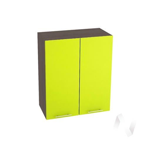 """Кухня """"Валерия-М"""": Шкаф верхний 600, ШВ 600 новый (лайм глянец/корпус венге)"""