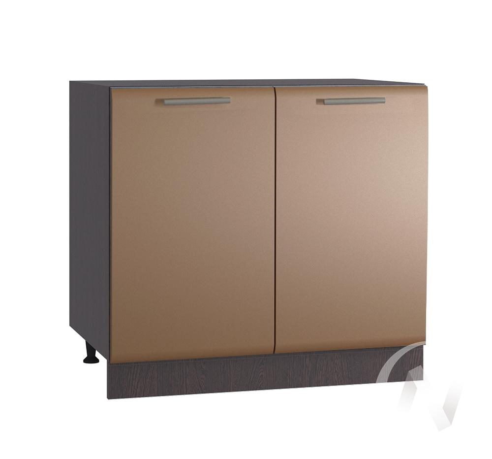 """Кухня """"Люкс"""": Шкаф нижний 800, ШН 800 новый (Шоколад матовый/корпус венге)"""