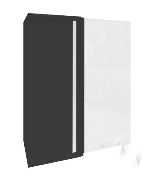 """Кухня """"Валерия-М"""": Шкаф верхний угловой 699, ШВУ 699 (белый металлик/корпус венге)"""