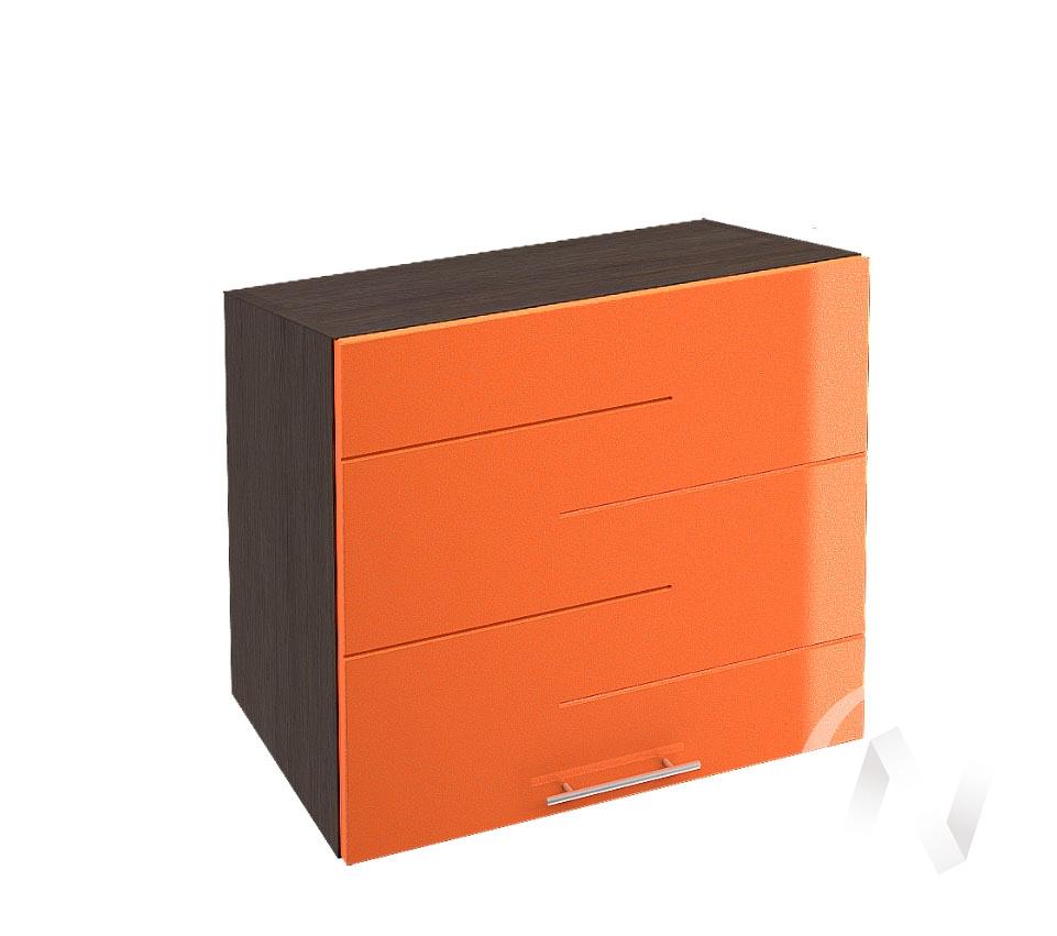 """Кухня """"Техно"""": Шкаф верхний горизонтальный 509, ШВГ 509 (корпус венге)"""