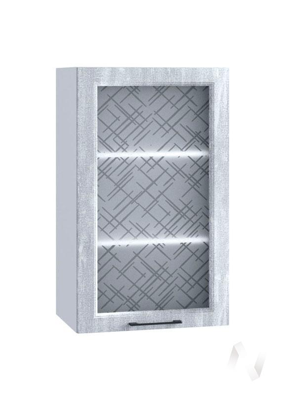 "Кухня ""Либерти"": Шкаф верхний 509, ШВС 509 (Холст натуральный/корпус белый)"
