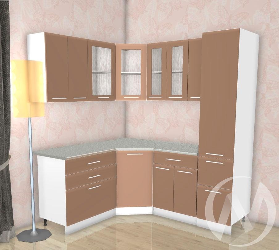 Кухня Люкс шоколад матовый угловая 2,1*1,5