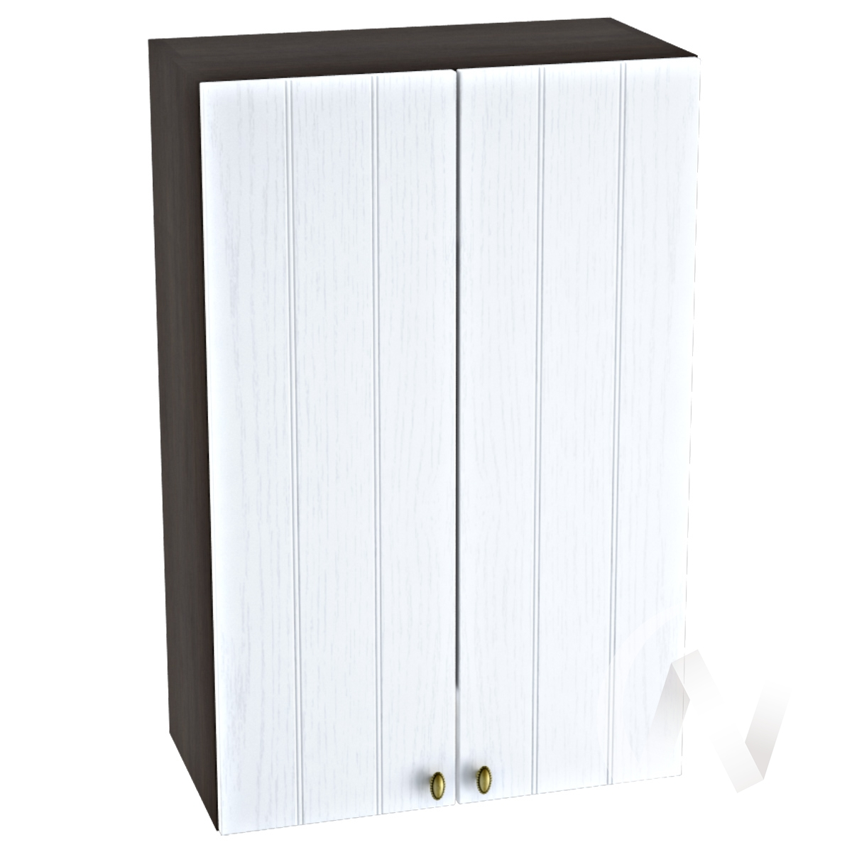 """Кухня """"Прованс"""": Шкаф верхний 609, ШВ 609 новый (белое дерево/корпус венге)"""
