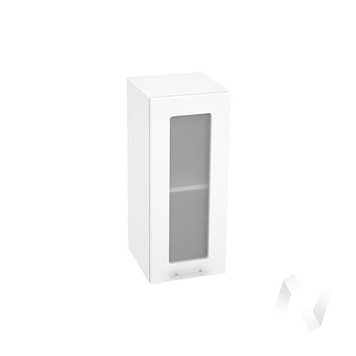 """Кухня """"Валерия-М"""": Шкаф верхний со стеклом 300, ШВС 300 (белый глянец/корпус белый)"""
