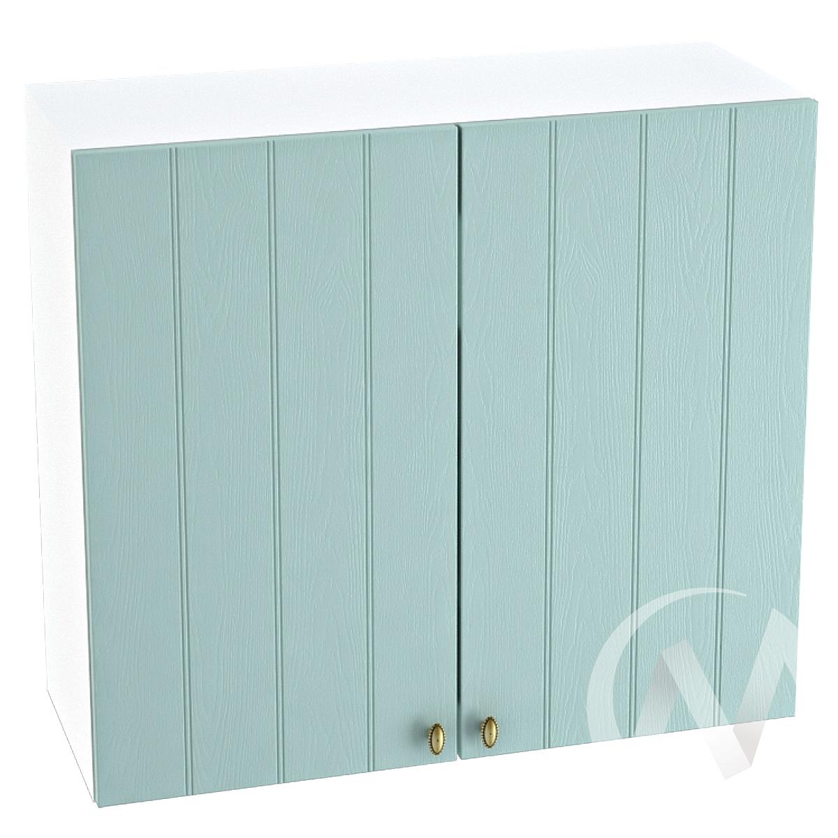 """Кухня """"Прованс"""": Шкаф верхний 800, ШВ 800 новый (голубой/корпус белый)"""