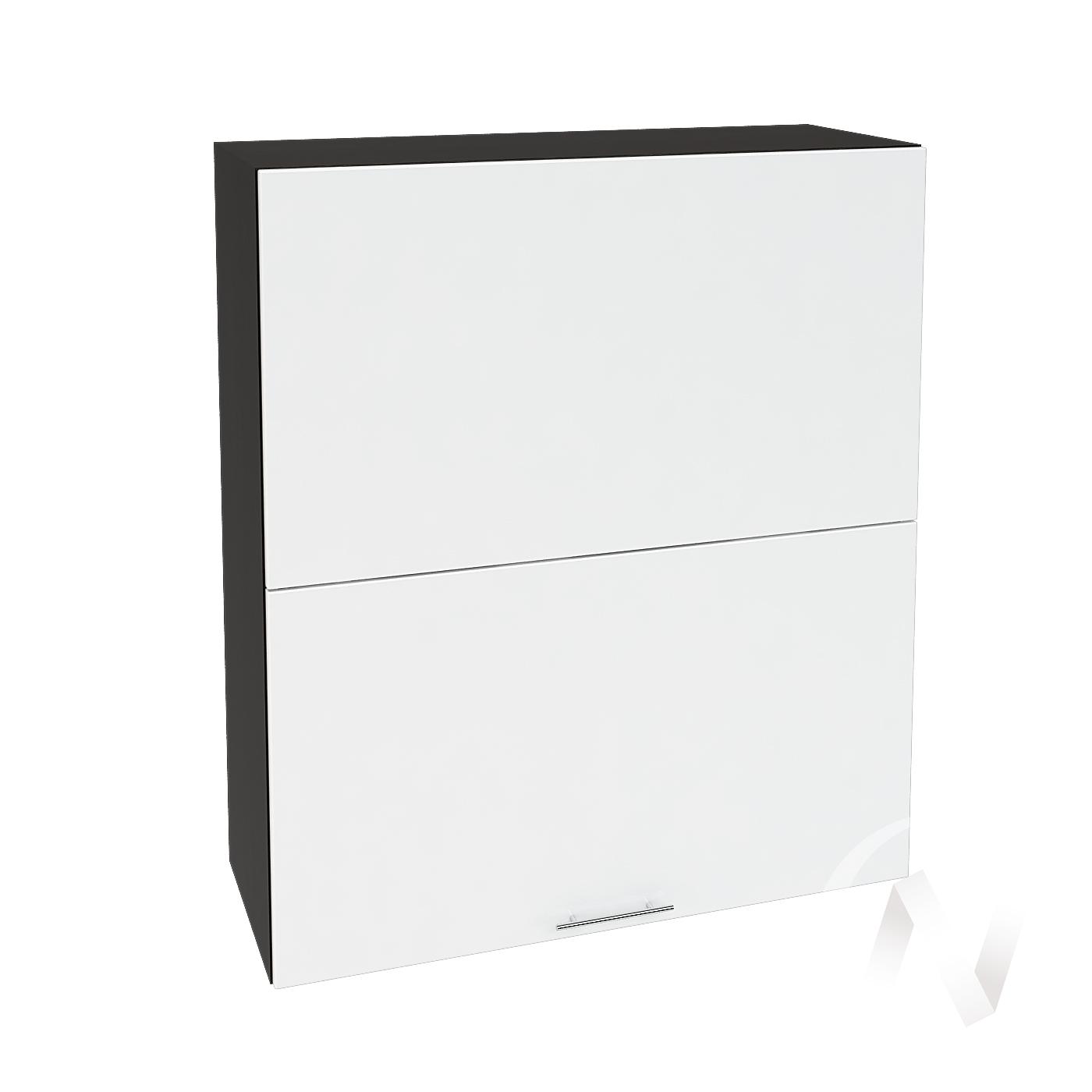 """Кухня """"Валерия-М"""": Шкаф верхний горизонтальный 802, ШВГ 802 (белый глянец/корпус венге)"""