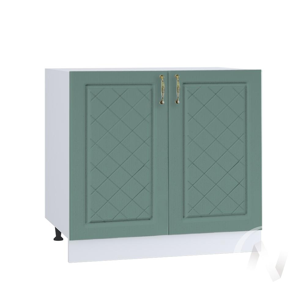 """Кухня """"Селена"""": Шкаф нижний 800, ШН 800 новый (Дуб бирюзовый/корпус белый)"""