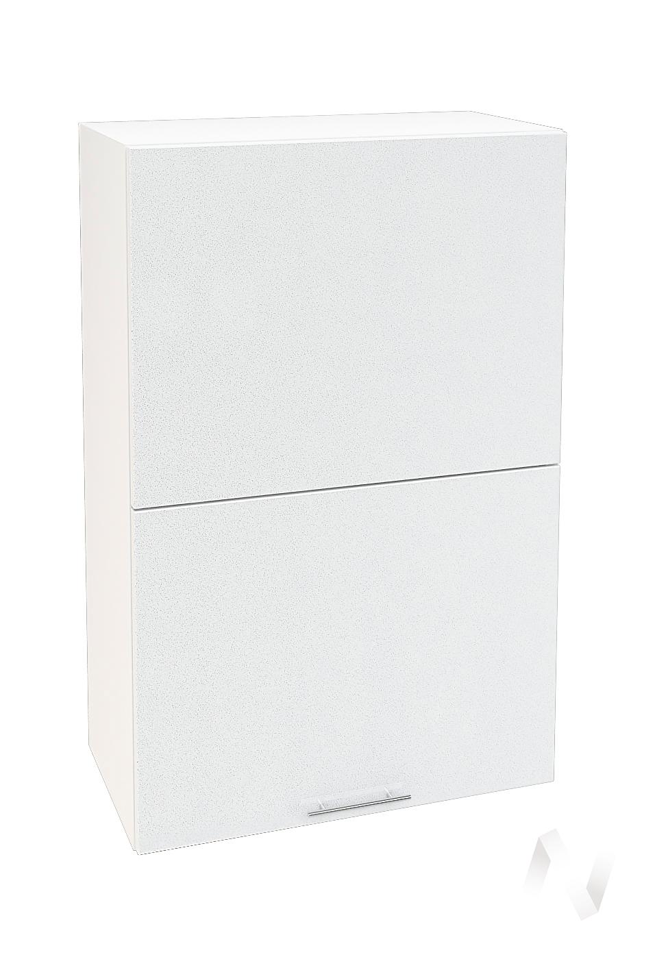 "Кухня ""Валерия-М"": Шкаф верхний горизонтальный 602, ШВГ 602 (белый металлик/корпус белый)"