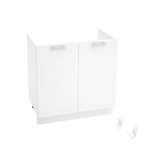 "Кухня ""Валерия-М"": Шкаф нижний под мойку 800, ШНМ 800 новый (белый глянец/корпус белый)"