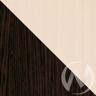 Шкаф-купе «Элвис» 2-х дверный Витрина (дуб сонома/венге)  в Томске — интернет магазин МИРА-мебель