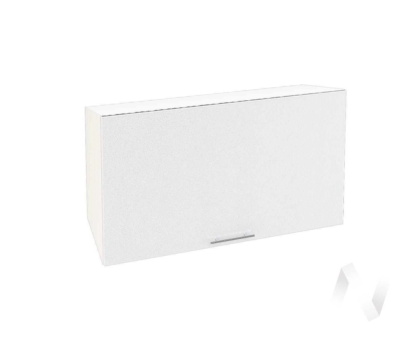 "Кухня ""Валерия-М"": Шкаф верхний горизонтальный 809, ШВГ 809 (белый металлик/корпус белый)"