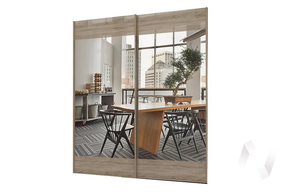 Марвин-3 СТЛ.299.53 Комплект фасадов с зеркалом 2032 Дуб сонома глянец/Зеркало