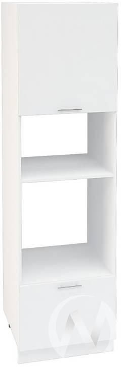 """Кухня """"Валерия-М"""": Шкаф пенал 606М, ШП 606М (белый глянец/корпус белый)"""
