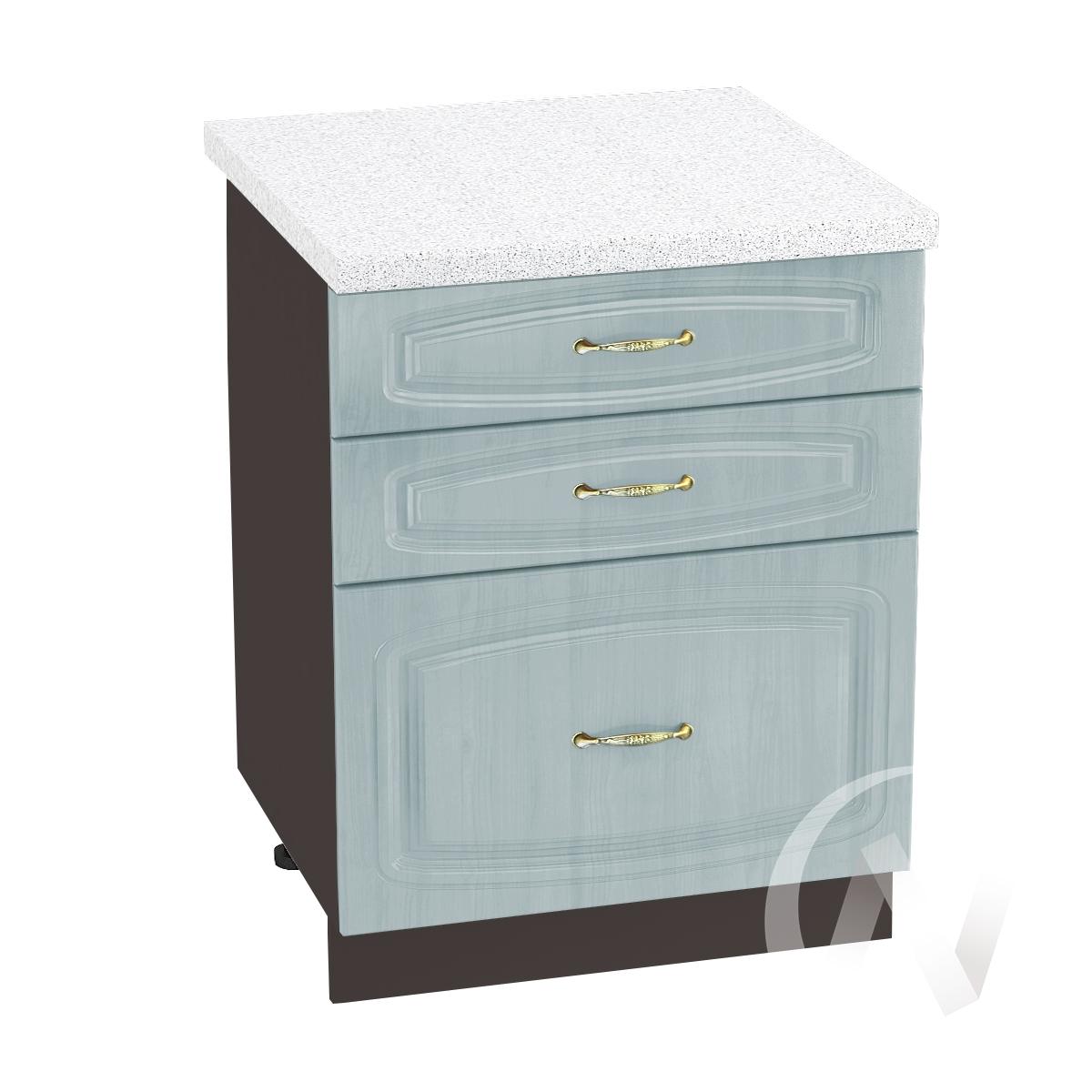 """Кухня """"Сити"""": Шкаф нижний с 3-мя ящиками 600, ШН3Я 600 (корпус венге)"""
