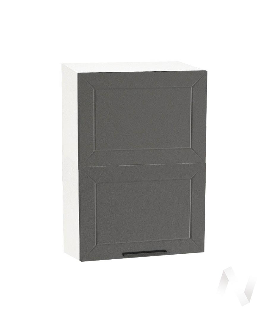 "Кухня ""Глетчер"": Шкаф верхний горизонтальный 502, ШВГ 502 (Маренго силк/корпус белый)"