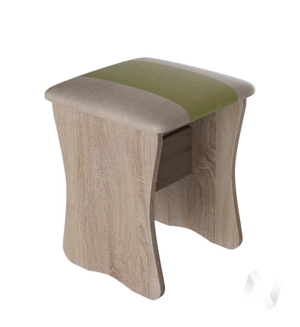 Табурет Уют 1,2,3 кожзам (дуб сонома/фисташка,бежевый) комплект 2шт  в Томске — интернет магазин МИРА-мебель