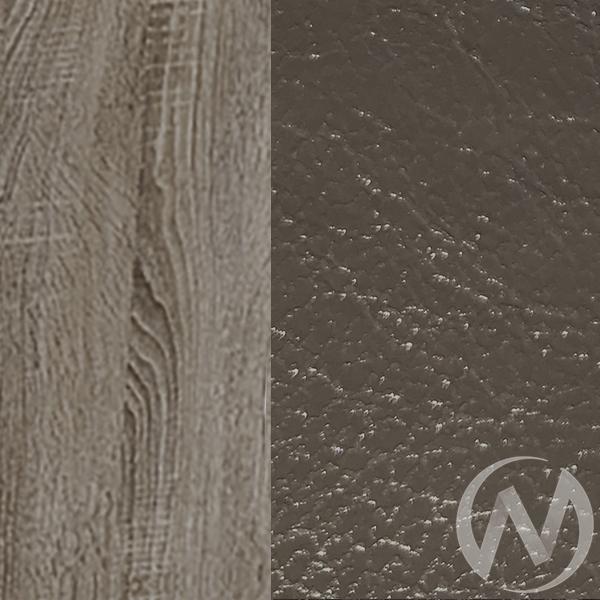 Обеденная группа тип 5 кожзам (дуб сонома трюфель/темно серый,серый)  в Томске — интернет магазин МИРА-мебель