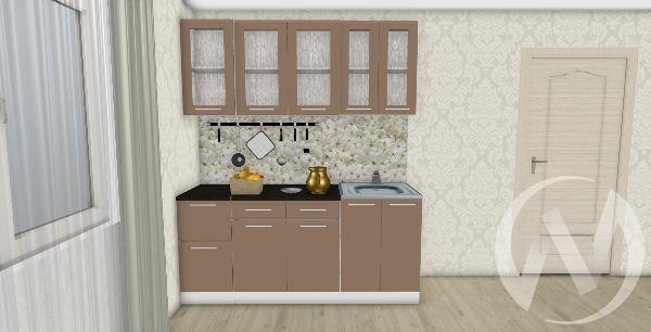 Кухня Люкс шоколад матовый 1,8 №1