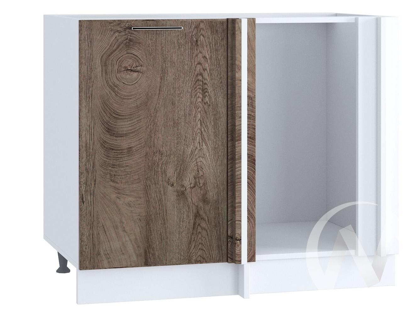 """Кухня """"Палермо"""": Шкаф нижний угловой 990М, ШНУ 990М (Дуб остин беж/корпус белый)"""
