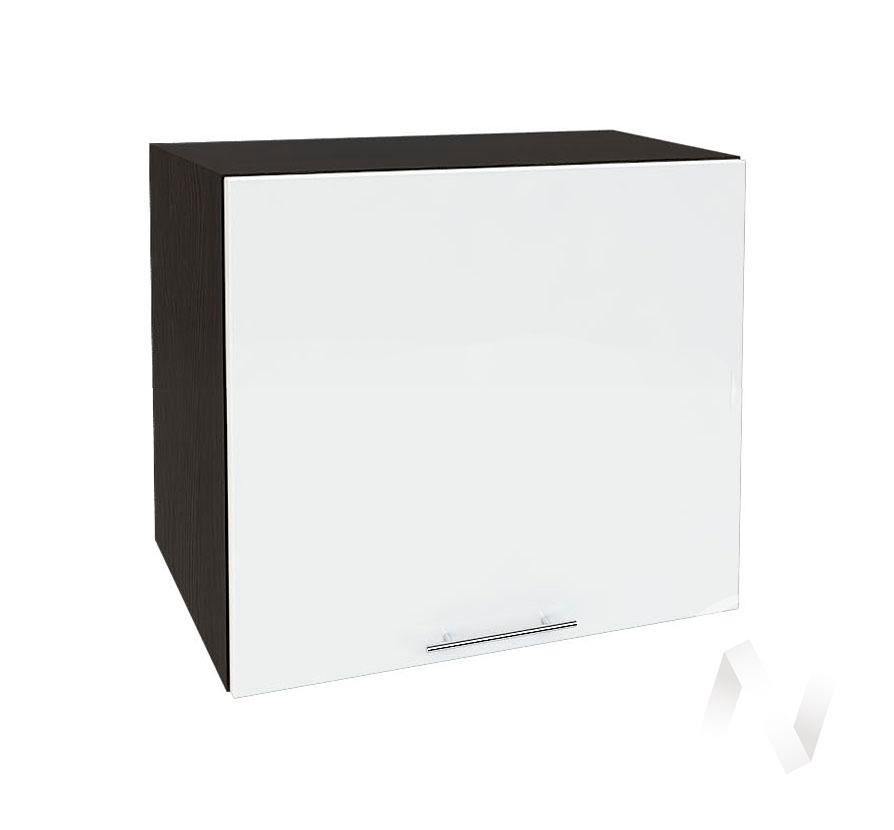 """Кухня """"Валерия-М"""": Шкаф верхний горизонтальный 509, ШВГ 509 (белый глянец/корпус венге)"""