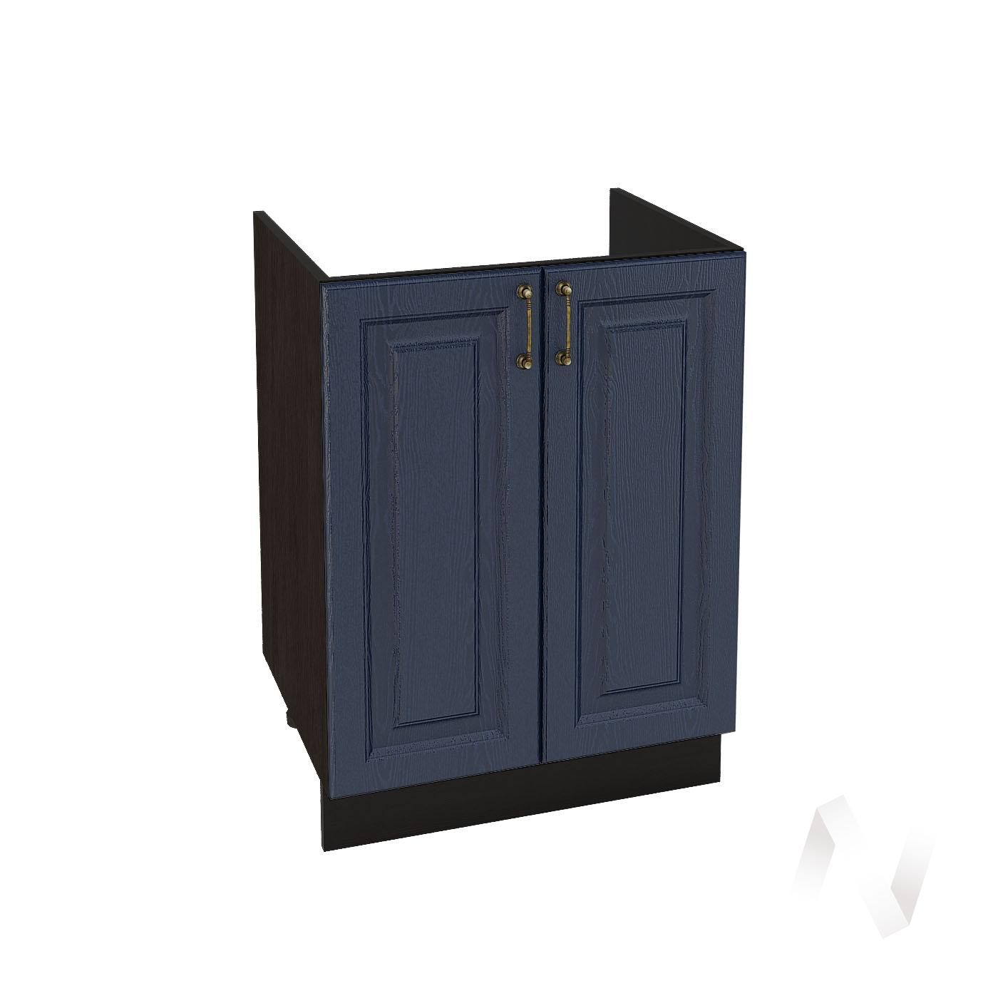 """Кухня """"Ницца"""": Шкаф нижний под мойку 600, ШНМ 600 новый (Дуб чернильный/корпус венге)"""