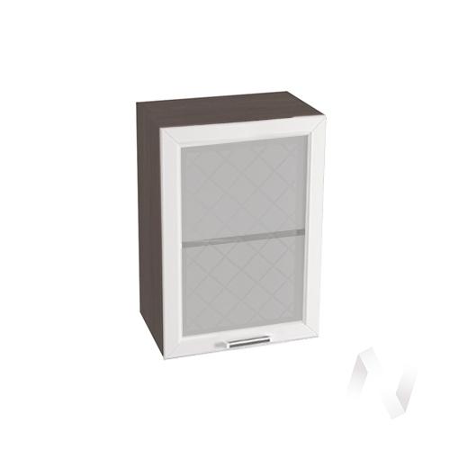 """Кухня """"Вена"""": Шкаф верхний со стеклом 500, ШВС 500 (корпус венге)"""