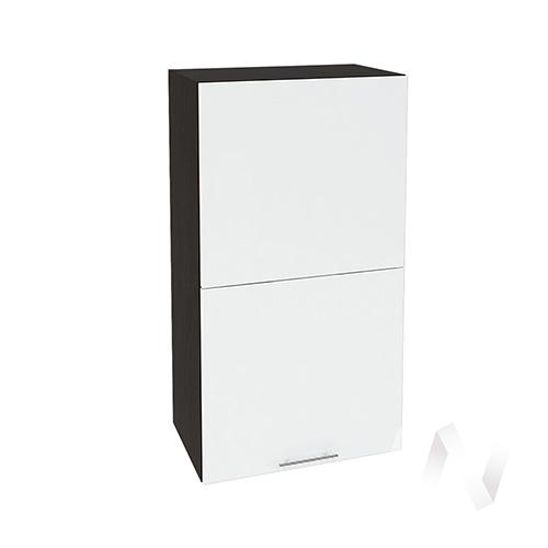 """Кухня """"Валерия-М"""": Шкаф верхний горизонтальный 502, ШВГ 502 (белый глянец/корпус венге)"""