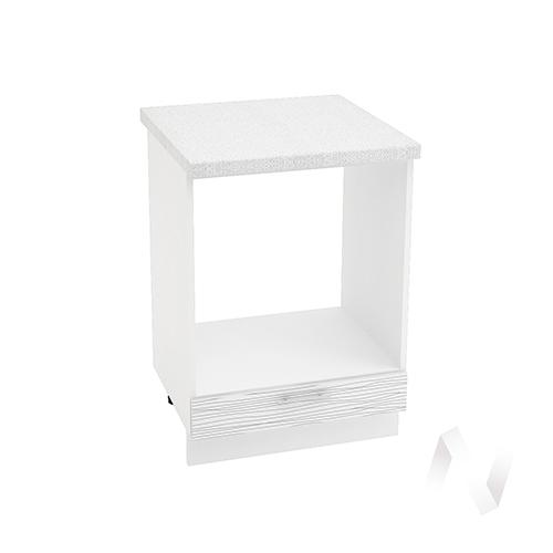 "Кухня ""Валерия-М"": Шкаф нижний под духовку 600, ШНД 600 (Страйп белый/корпус белый)"