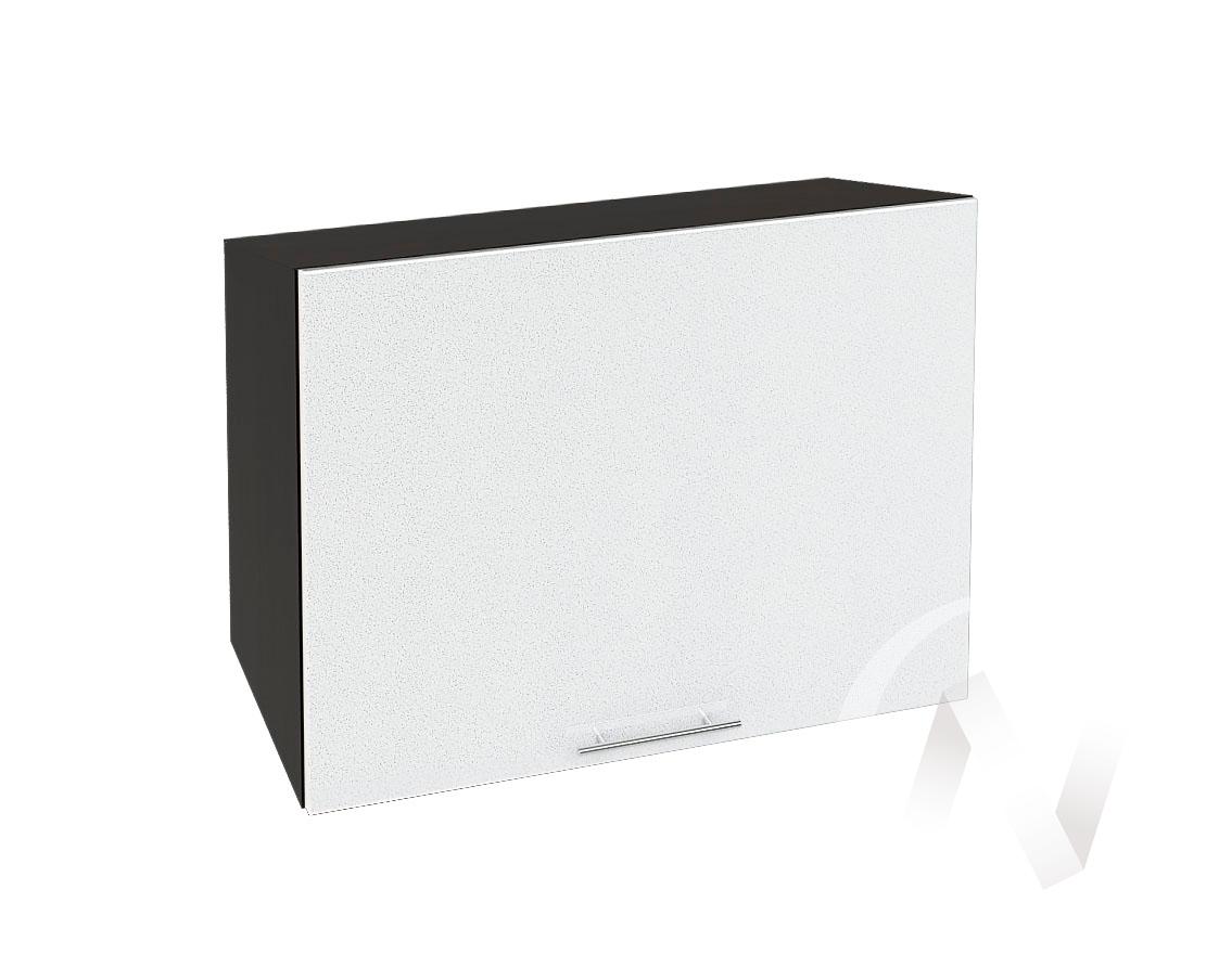 """Кухня """"Валерия-М"""": Шкаф верхний горизонтальный 609, ШВГ 609 (белый металлик/корпус венге)"""
