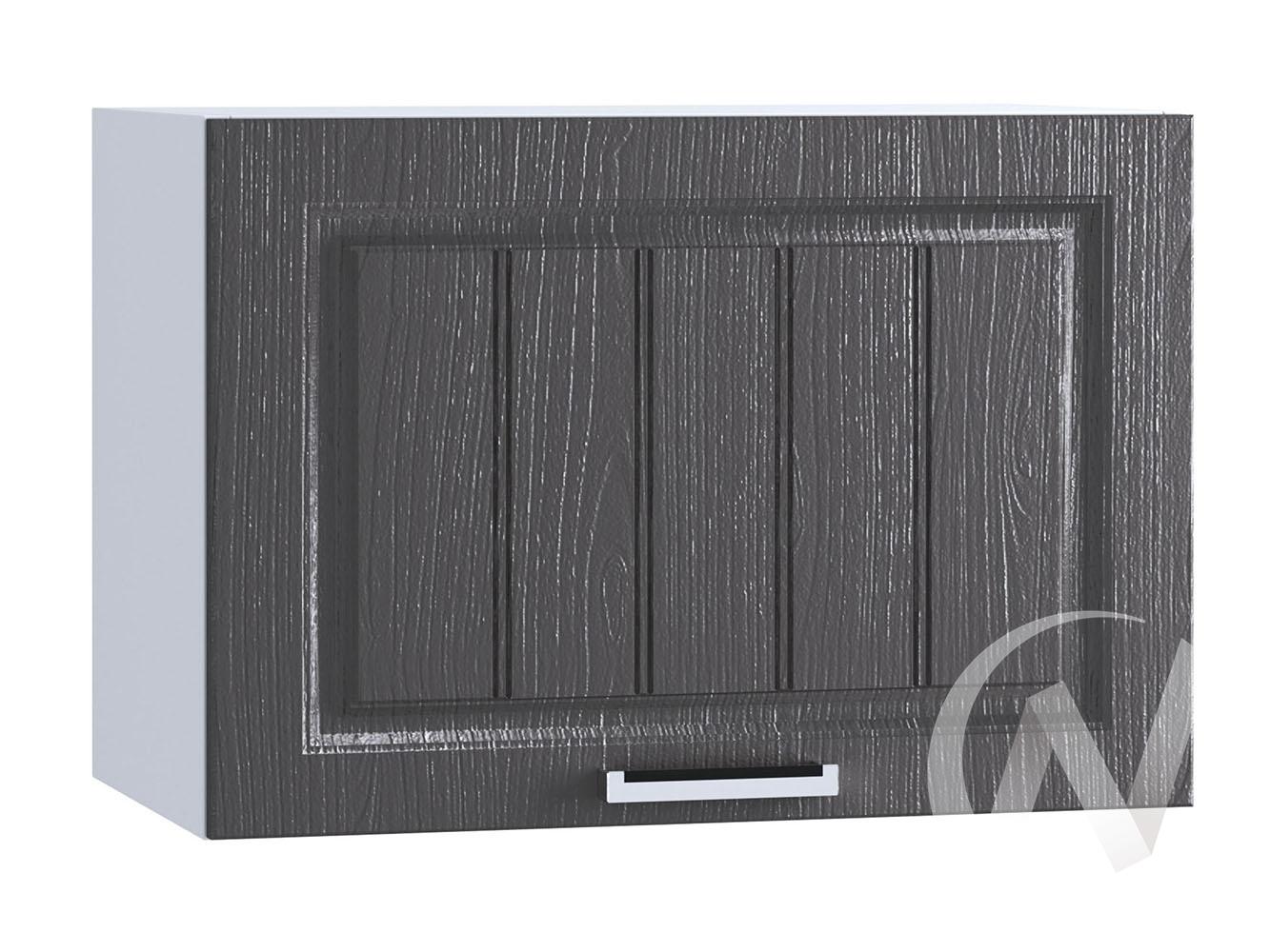 """Кухня """"Луксор"""": Шкаф верхний горизонтальный 609, ШВГ 609 (Клен серый/корпус белый)"""