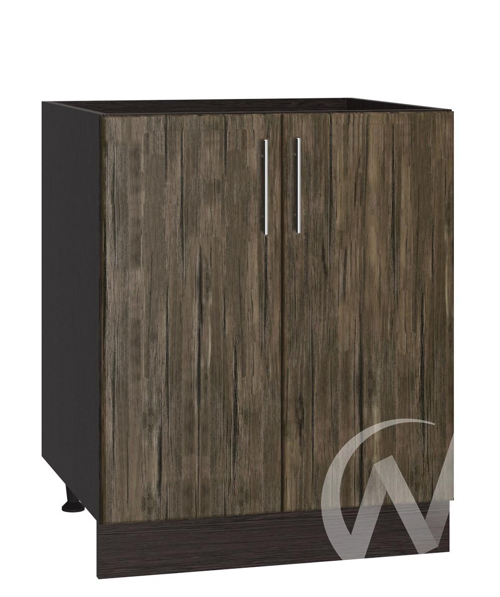 """Кухня """"Норден"""": Шкаф нижний под мойку 600, ШНМ 600 новый (старое дерево/корпус венге)"""