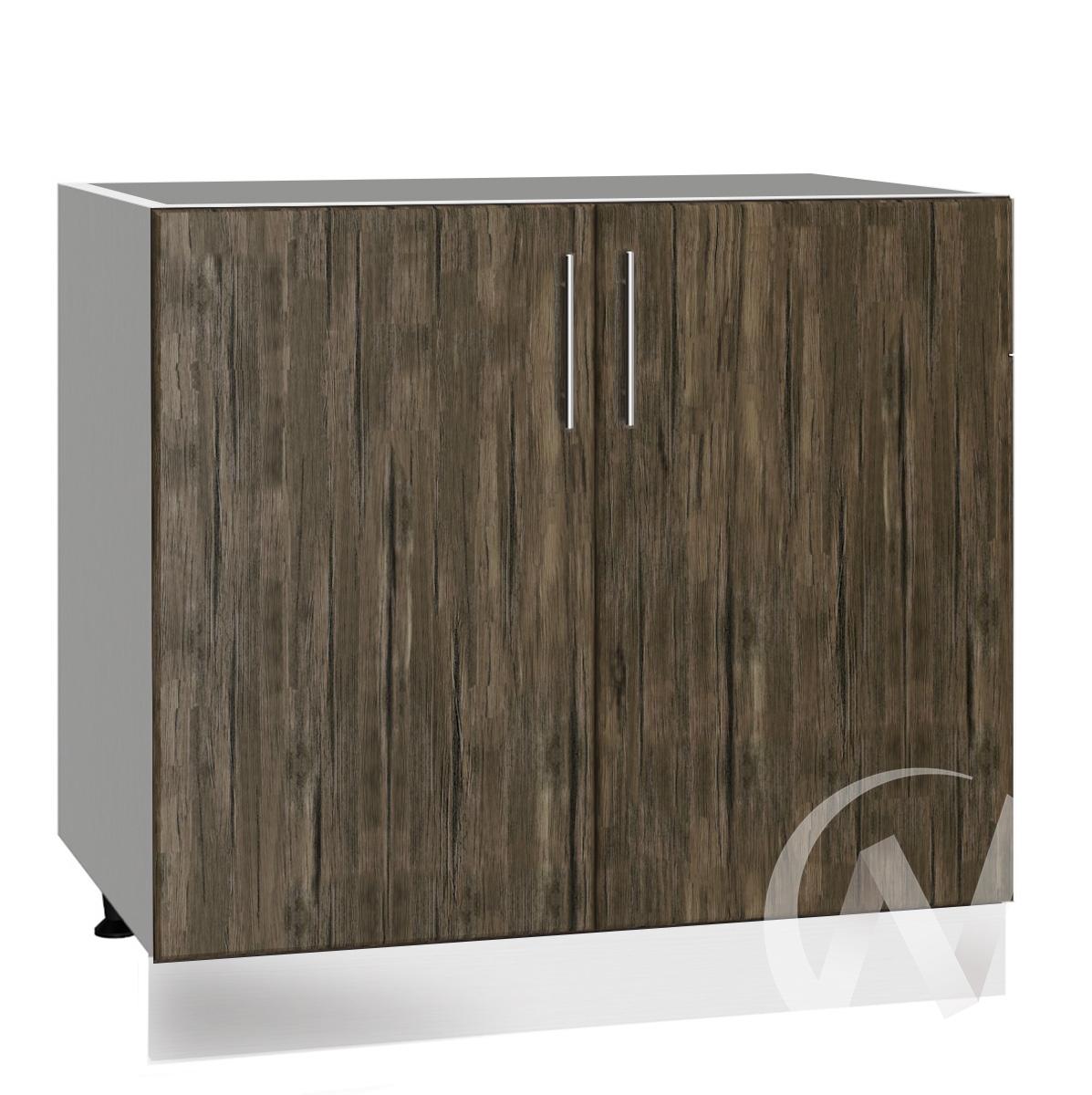 """Кухня """"Норден"""": Шкаф нижний под мойку 800, ШНМ 800 новый (старое дерево/корпус белый)"""