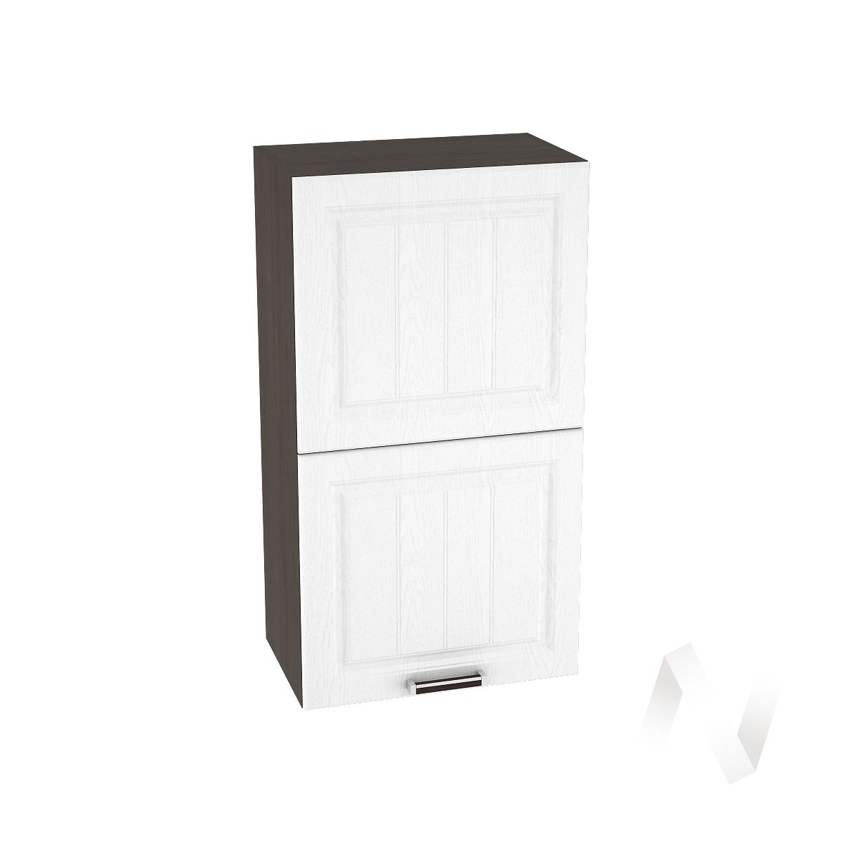 """Кухня """"Прага"""": Шкаф верхний горизонтальный 502, ШВГ 502 (белое дерево/корпус венге)"""