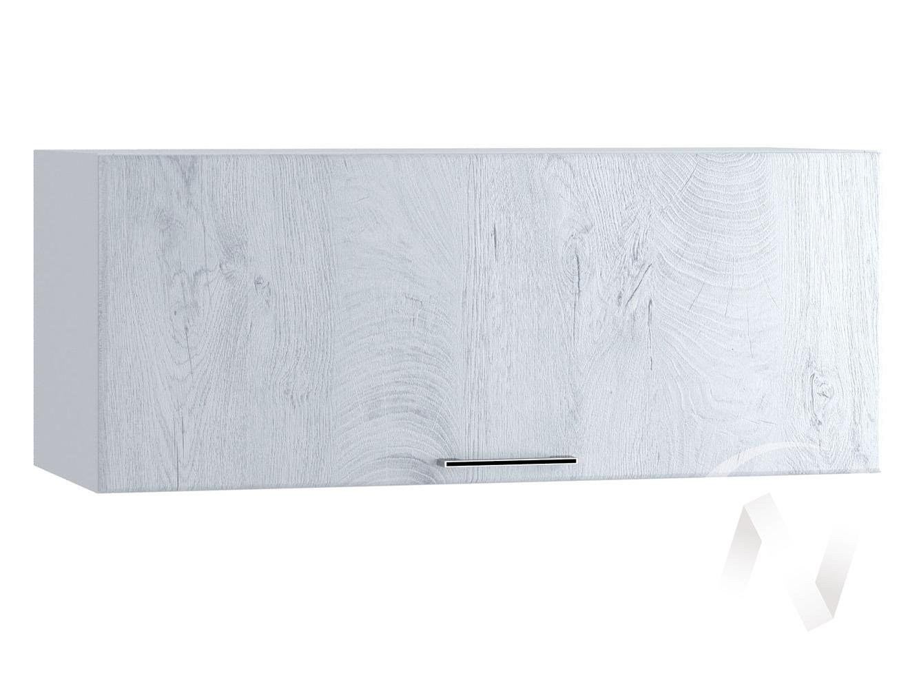 "Кухня ""Палермо"": Шкаф верхний горизонтальный 800, ШВГ 800 (Дуб остин серый/корпус белый)"