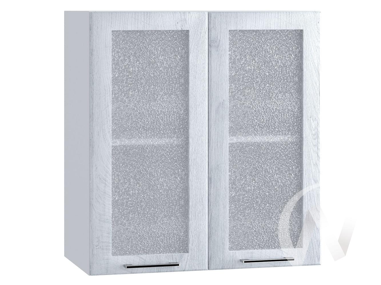 "Кухня ""Палермо"": Шкаф верхний со стеклом 600, ШВС 600 (Дуб остин серый/корпус белый)"