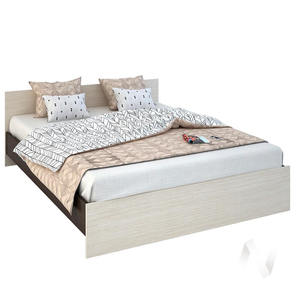 Бася Кровать 1,6  ЛДСП(венге/дуб бел) КР 558