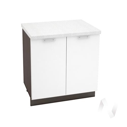 """Кухня """"Валерия-М"""": Шкаф нижний 800, ШН 800 новый (белый глянец/корпус венге)"""