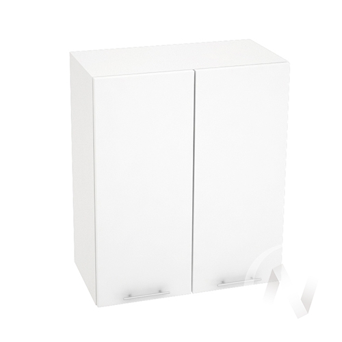 """Кухня """"Валерия-М"""": Шкаф верхний 600, ШВ 600 новый (белый металлик/корпус белый)"""