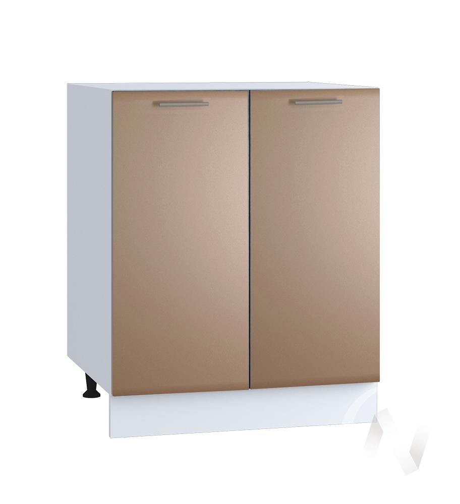 "Кухня ""Люкс"": Шкаф нижний 600, ШН 600 новый (Шоколад матовый/корпус белый)"
