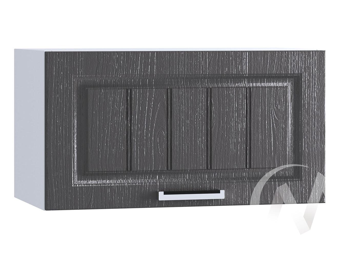"""Кухня """"Луксор"""": Шкаф верхний горизонтальный 600, ШВГ 600 (Клен серый/корпус белый)"""